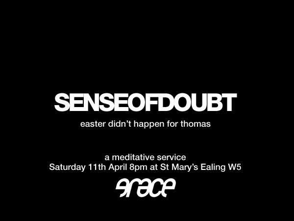 Sense of Doubt flyer
