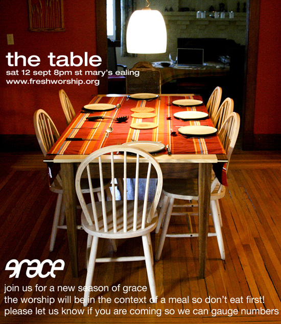 the table flyer
