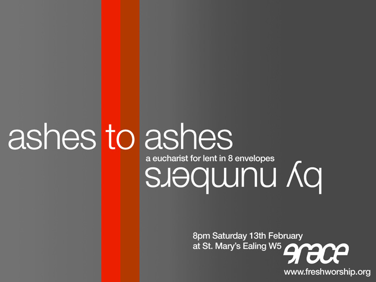 ashes to ashes lent flyer